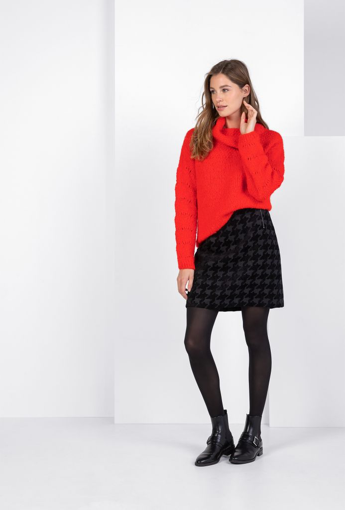 Manon pullover bricht red Expresso Siga Mode by Siga.