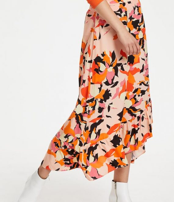 Paris flower print skirt | Denim Hunter