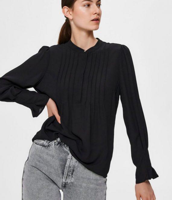 Mandarin collar blouse | Selected Femme