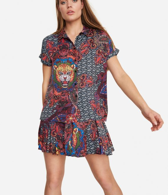 Ethnic satin blouse