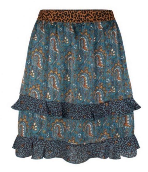 Skirt paisley leave print | Esqualo