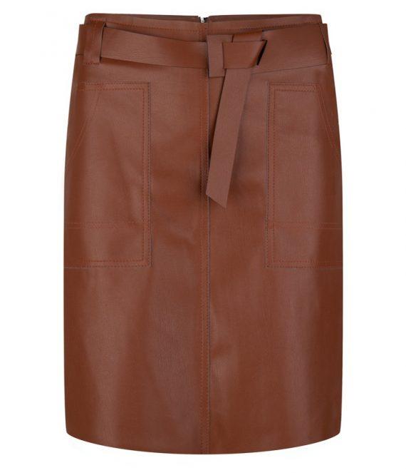 Skirt PU fancy waistbelt | Esqualo