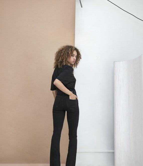 Flared jeans black used | Homage to denim