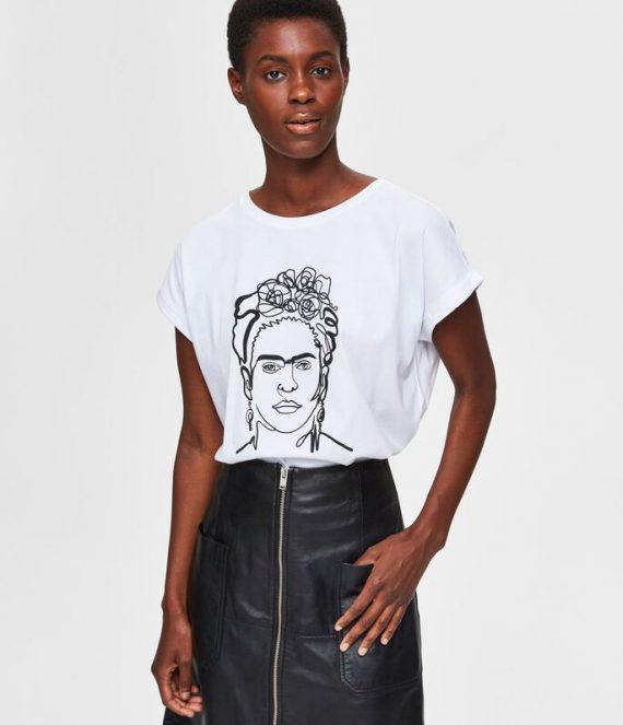 Frida kahlo-print t-shirt | Selected Femme