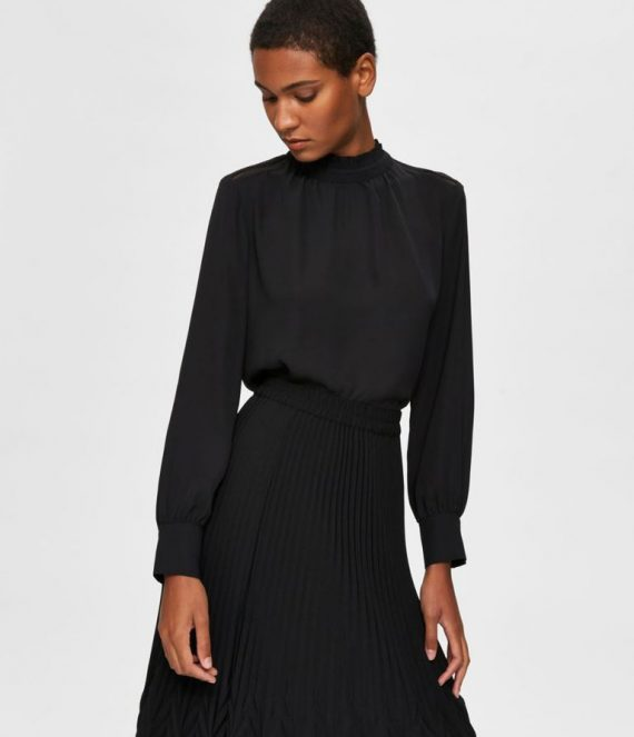 Ruche kraag blouse | Selected Femme