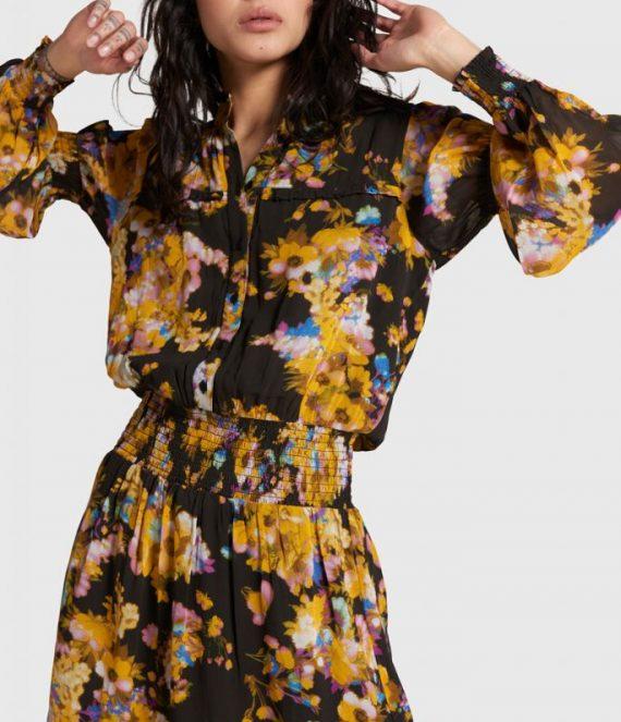 Big flower chiffon dress | Alix the label