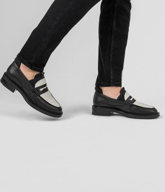Ivy-Jazz loafer zwart/off white | Bronx
