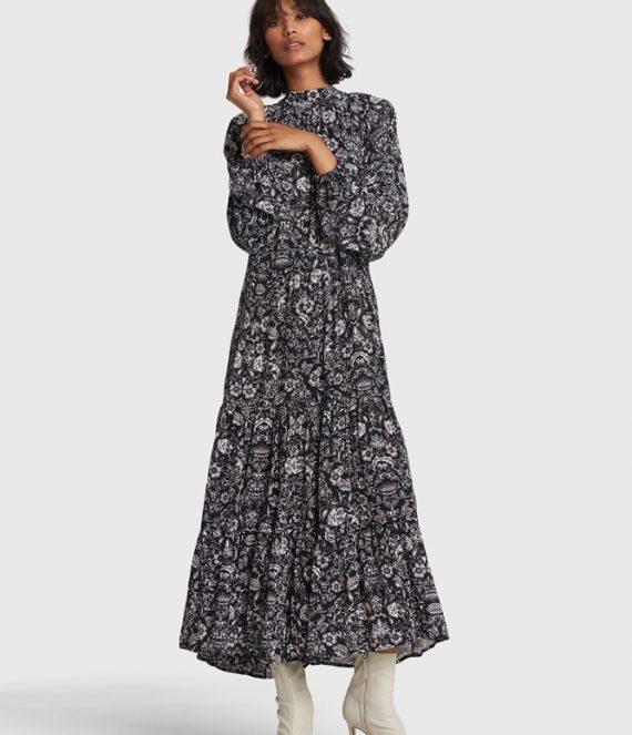 Flower viscose dress | Alix the label