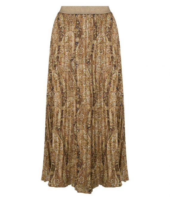 Skirt plisse brown paisley | Esqualo