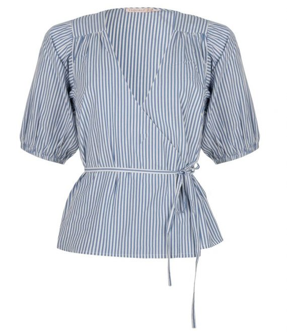 Blouse overlap stripes | Esqualo