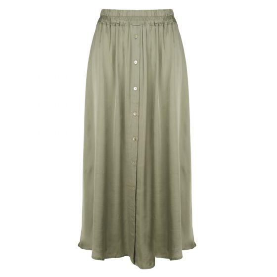 Skirt satin buttoned closure | Esqualo