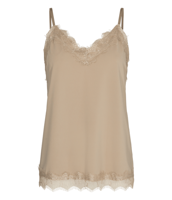 Top met kant beige | Freequent