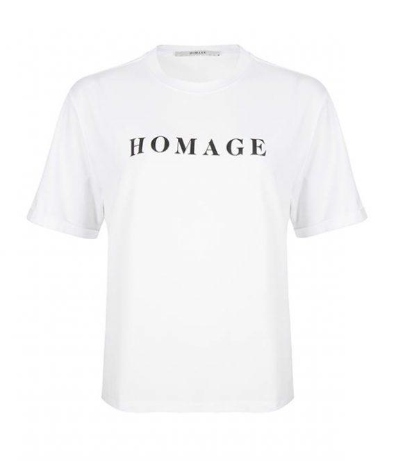 Straight fit logo tee | Homage