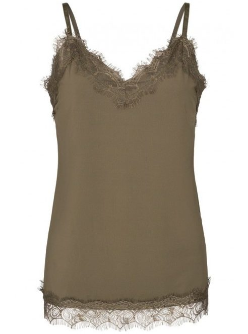 Top met kant olive | Freequent