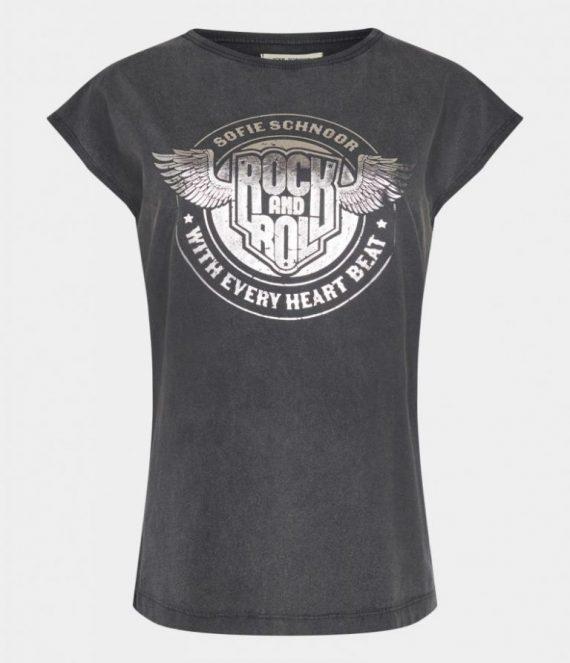 Shirt rock and roll zwart | Sofie Schnoor