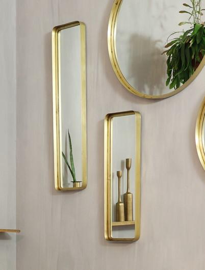 Spiegel Sinna brons goud | Light & Living