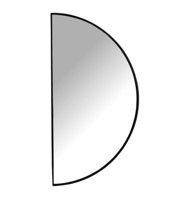 Spiegel halve circkel zwart | Kersten