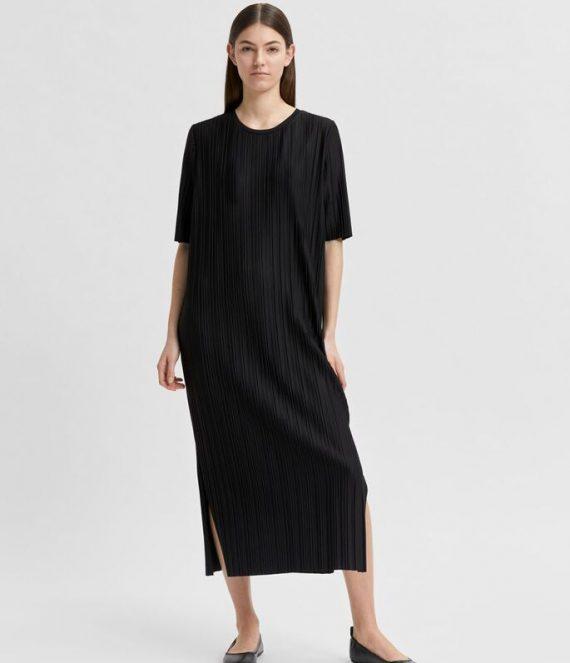 Staight fit plooien jurk | Selected Femme