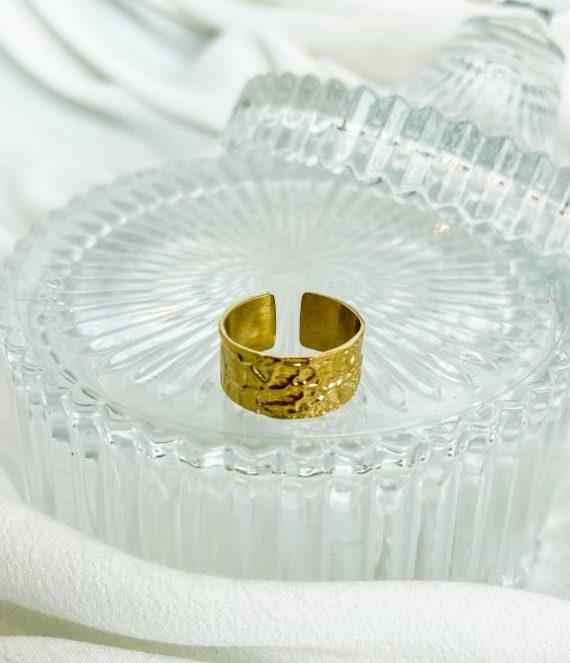 Ring gold effect | ZAG Bijoux