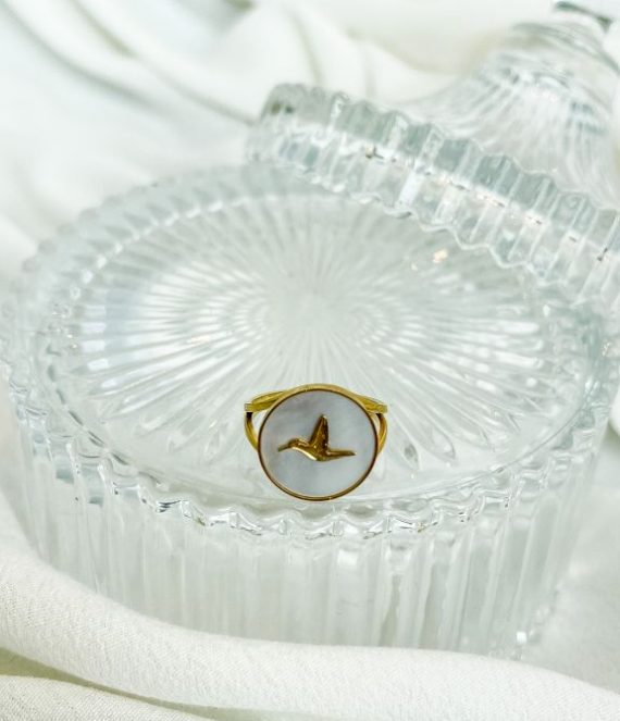 Ring shell bird gold | ZAG Bijoux