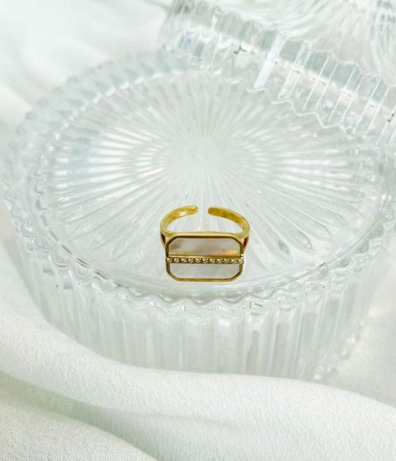 Ring shell diamond | ZAG Bijoux