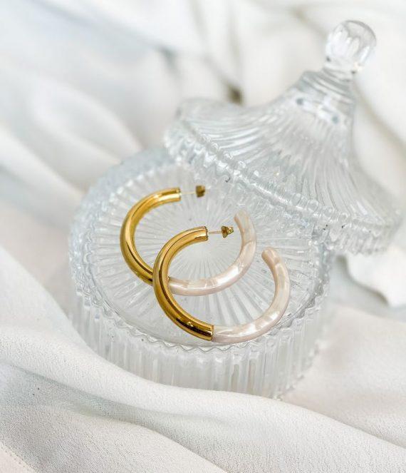 Earrings gold shell | ZAG Bijoux