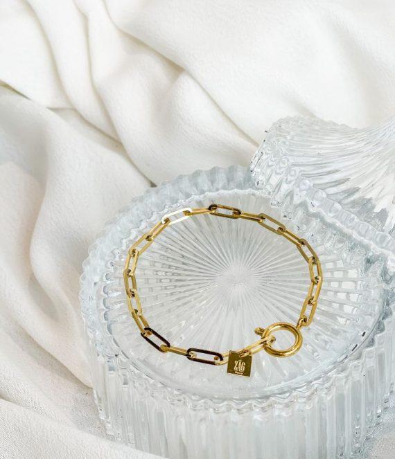 Bracelet chain dore | ZAG Bijoux