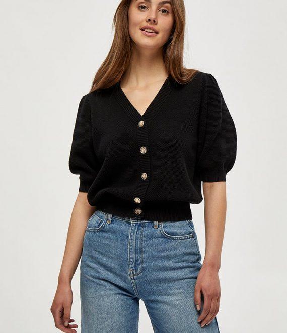 Jossa knit cardigan black | Minus