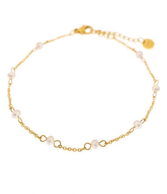 Pearl anklet gold | Label Kiki
