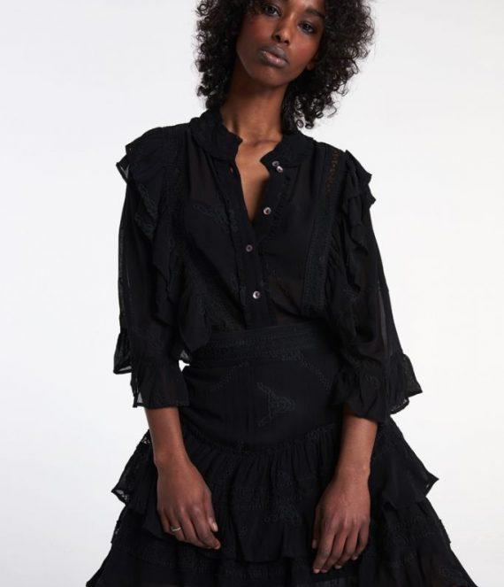 Embroidery chiffon blouse | Alix the label