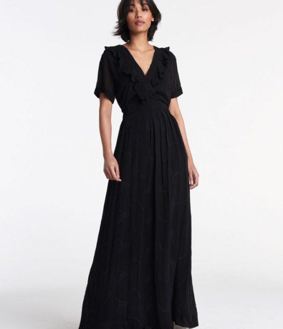 Embroidery chiffon dress | Alix the label