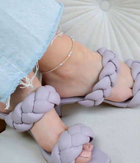 Silver pastel anklet | Label Kiki