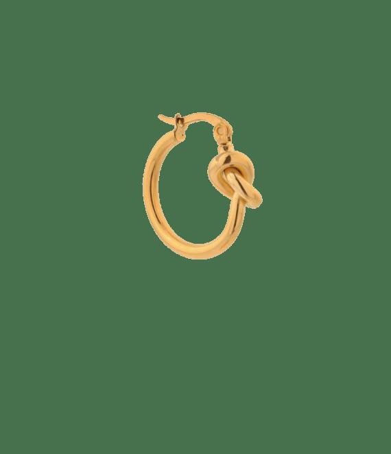 Single tied up hoop gold | Label Kiki