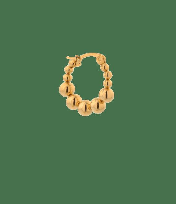 Single iris hoop gold | Label Kiki