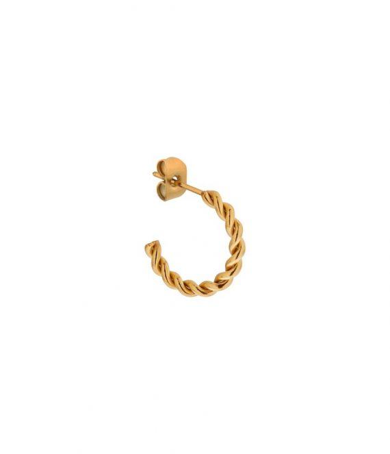 Single half twisted hoop gold | Label Kiki