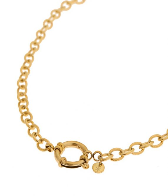 Twisted chain necklace gold | Label Kiki