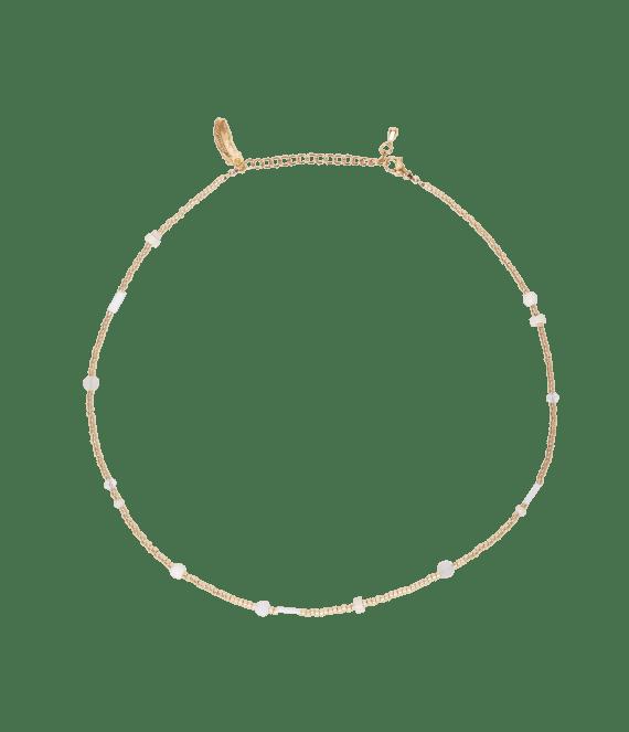 Beige flair necklace gold | Le Veer