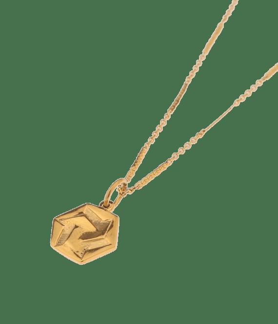 Hexagon infinite gold necklace | Label Kiki