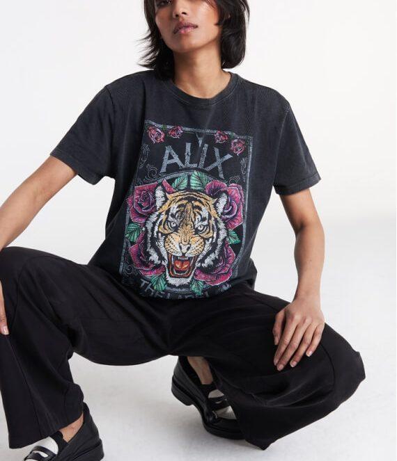 Acid Washed Tiger T-Shirt | Alix the Label