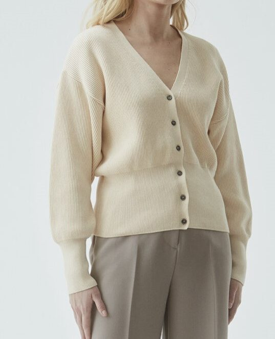 Lydia cardigan off white | Modstrom