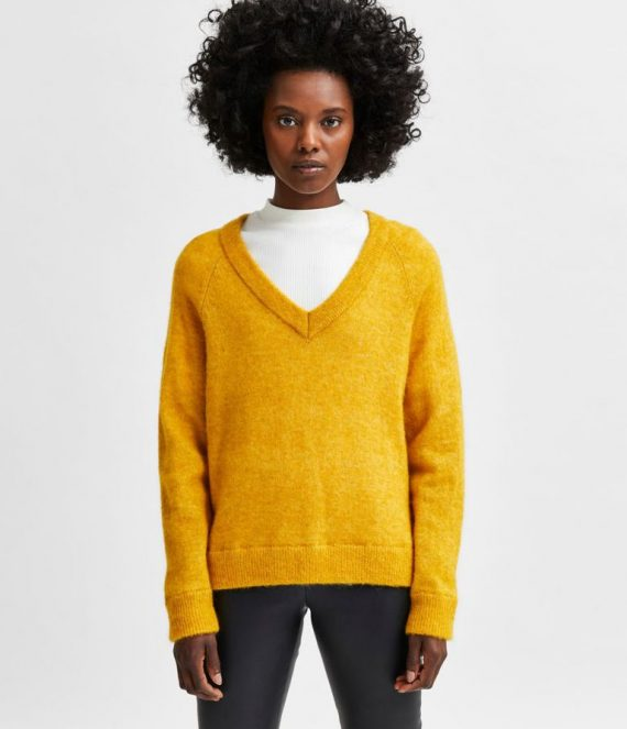 V-hals wolmix sweater arrowwood | Selected Femme