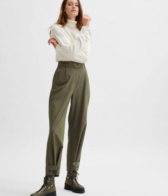 Wijd high-waist broek | Selected Femme