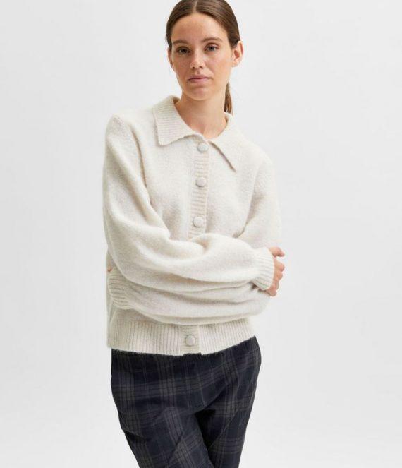 Wol en alpaca gebreid vest | Selected Femme