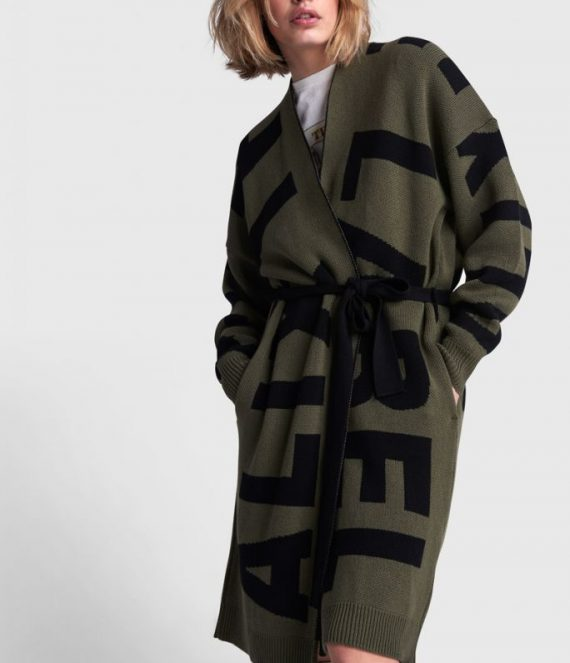 Text jacquard cardigan | Alix the label