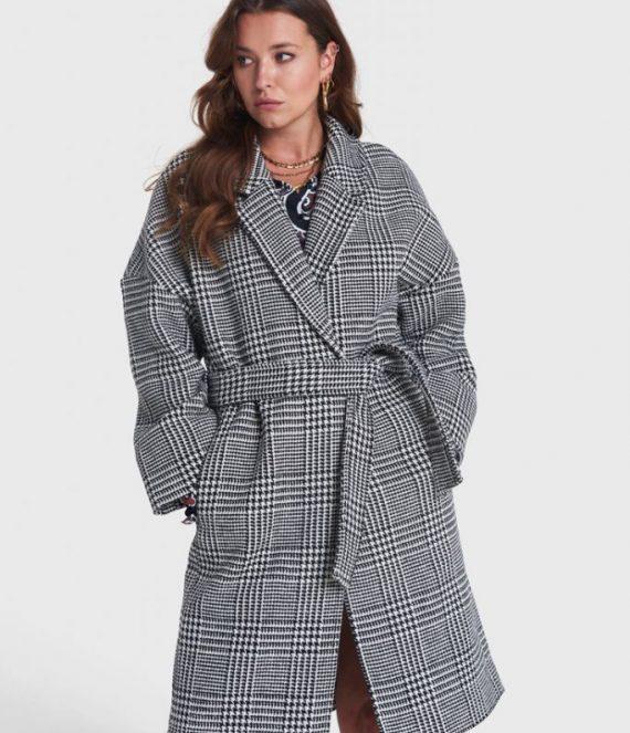 Check jacquard coat | Alix the label
