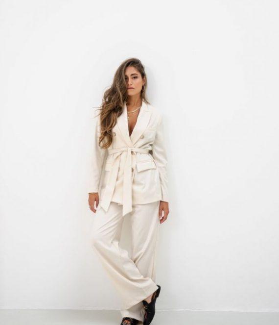Joya blazer white | Amaya Amsterdam
