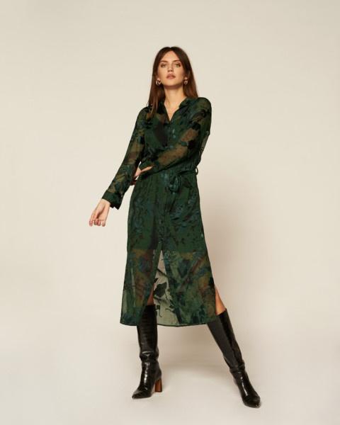 Harper LS jurk groen   Freebird