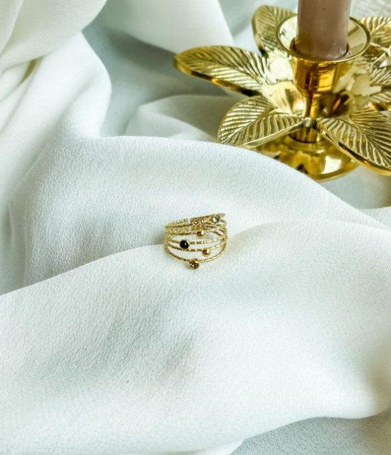 Ring gold swarovski   ZAG Bijoux