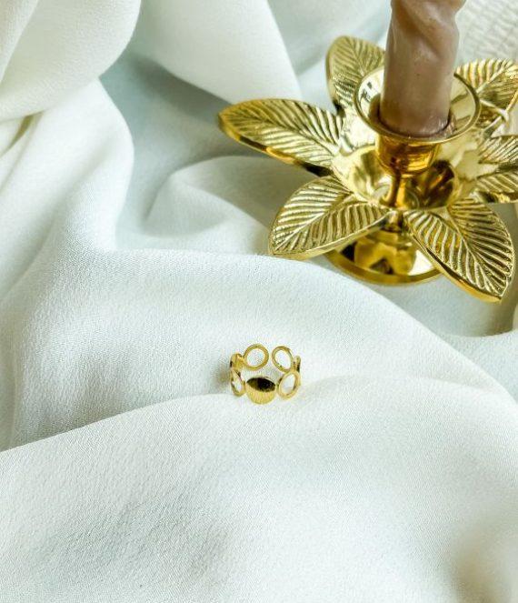 Ring gold round   ZAG Bijoux