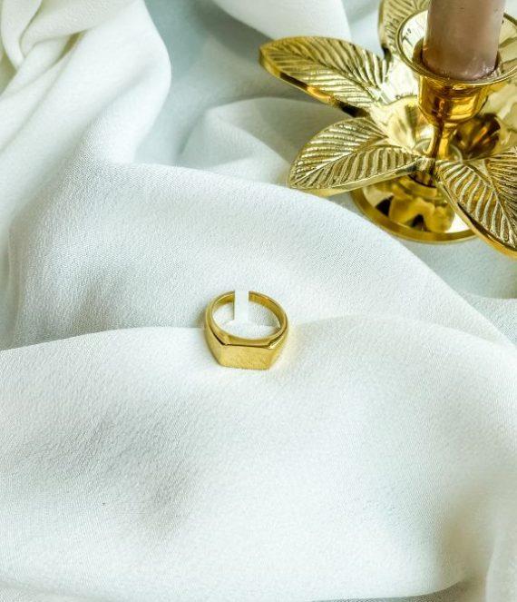 Ring gold zegel   ZAG Bijoux